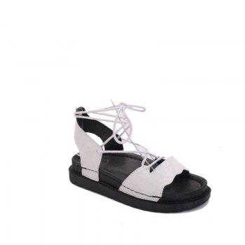 The New Fashionable Xia Jioping Heel Shoe of Platform Sandals - WHITE 37