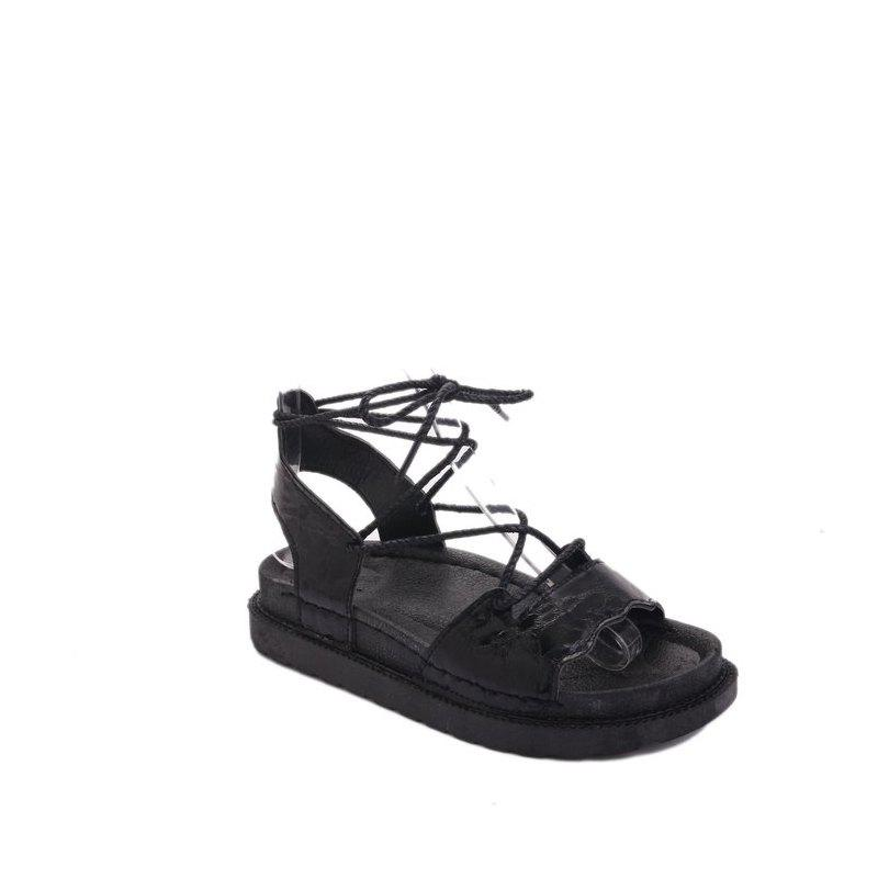 The New Fashionable Xia Jioping Heel Shoe of Platform Sandals - BLACK 38