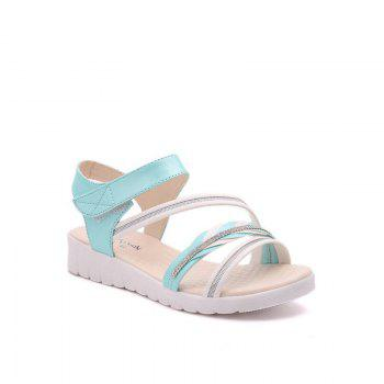 The Wedge Heel of The Student Sandals - BLUE 37