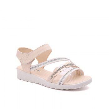 The Wedge Heel of The Student Sandals - BEIGE BEIGE