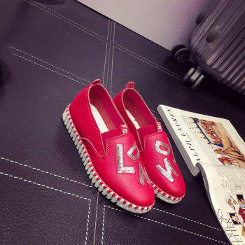 Casual Leather Platform Shoes - 38 38