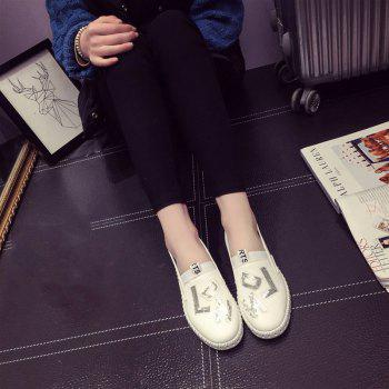 Casual Leather Platform Shoes - 39 39