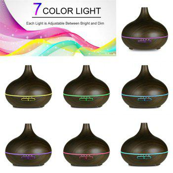 550ML Black Essential Oil Diffuser Stylish Aroma Humidifier 14 Color Shades Best Wood Grain Ultrasonic Whisper Quiet Cool Mist Aromatherapy - BLACK / FLUORESCENT YELLOW