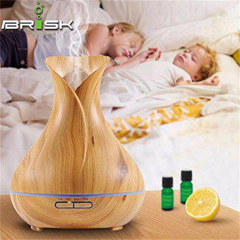 Wood Grain Aroma Diffuser 550ML Essential Oil Diffuser Electric Ultrasonic Humidifier -  YELLOW