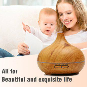 Essential Oil Diffuser Aroma Humidifier 14 Colors Wood Grain Ultrasonic Whisper Quiet Cool Mist Aromatherapy - WOOD COLOR