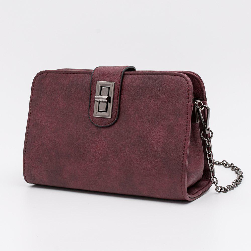 Women'S Crossbody Bag Leisure Pack Envelopes - WINE RED 1PC