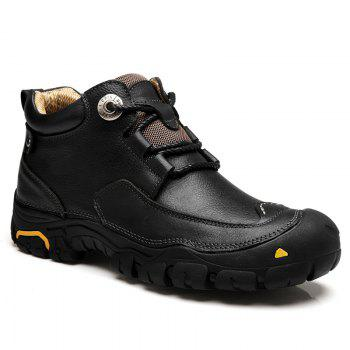 Men'S Boots for Men'S Short Boots and Anti-Skid Boots in Winter - BLACK 43