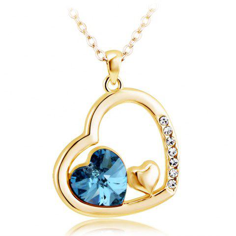Mutual Affinity Love Heart Shape Jewelry Pendant Necklace Best Idea Gifts for Girls - CITRUS