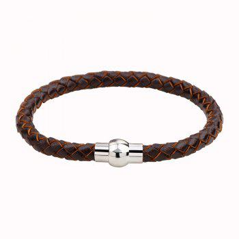 Hand Woven Leather Bracelets - BROWN #26 BROWN