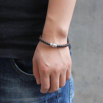 Hand Woven Leather Bracelets -  BROWN