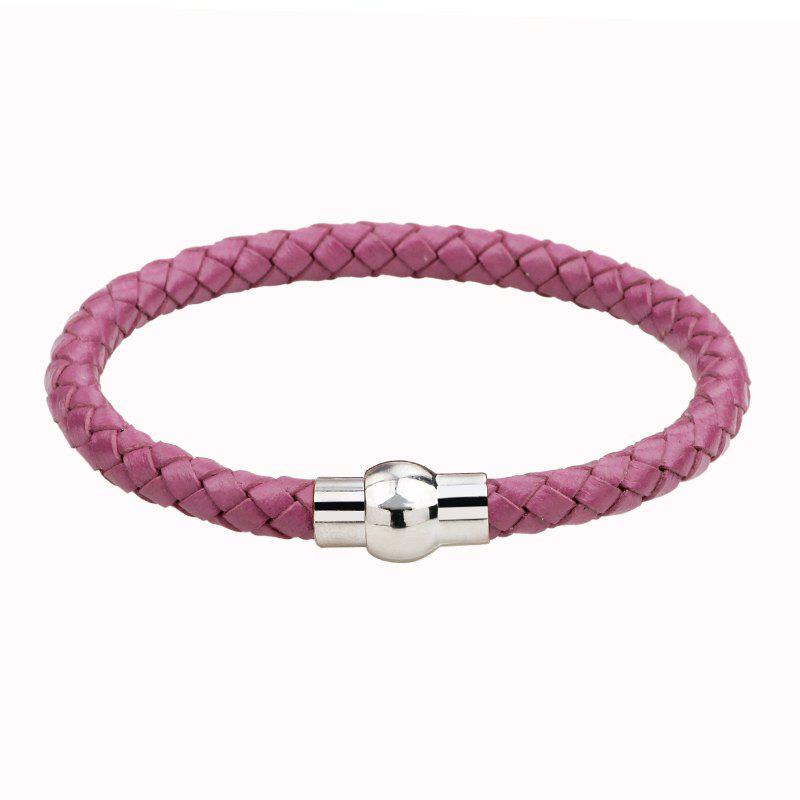 Hand Woven Leather Bracelets - PURPLE P