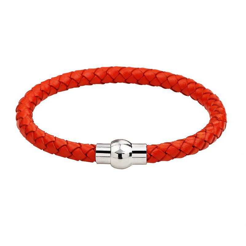 Hand Woven Leather Bracelets - RED R