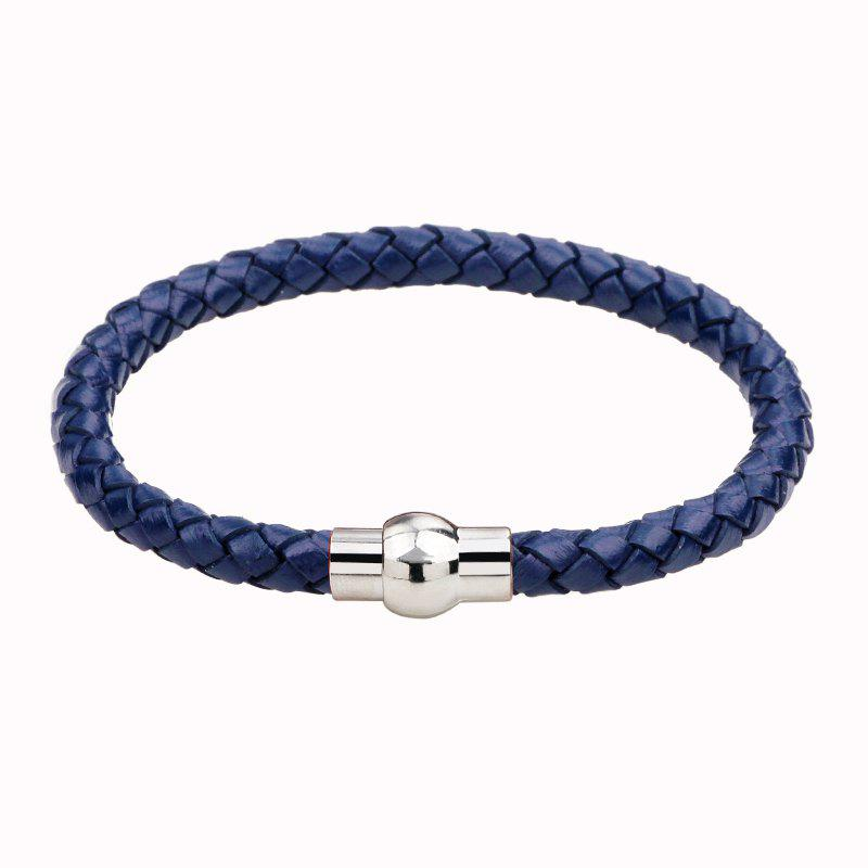 Hand Woven Leather Bracelets - BLUEBELL
