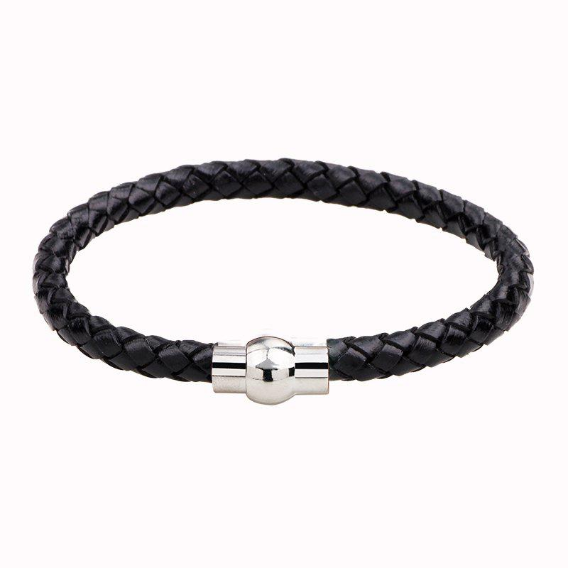 Hand Woven Leather Bracelets - BLACK R