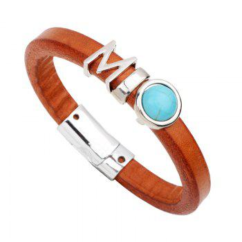 Fashion Leather Bracelet - BROWN BLUE BROWN BLUE