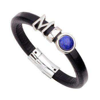 Fashion Leather Bracelet - BLACK 2R2610# BLACK R