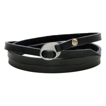 Multilayer Leather Bracelet - BLACK 2R2610# BLACK R