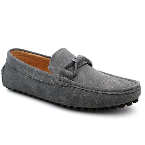 The Fall of New Shoes Slip-On Doug Foot Soft Bottom Shoes Doug Comfortable Leather Men'S Shoes - OYSTER 42