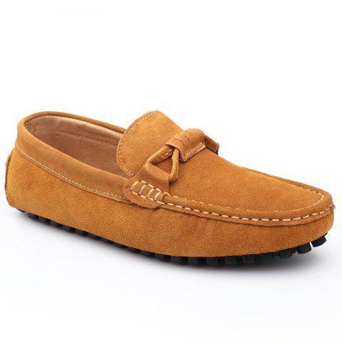 The Fall of New Shoes Slip-On Doug Foot Soft Bottom Shoes Doug Comfortable Leather Men'S Shoes - DAISY 42