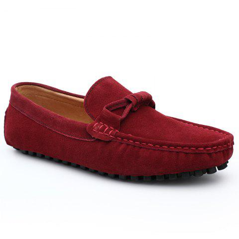 The Fall of New Shoes Slip-On Doug Foot Soft Bottom Shoes Doug Comfortable Leather Men'S Shoes - AMERICAN BEAUTY 40