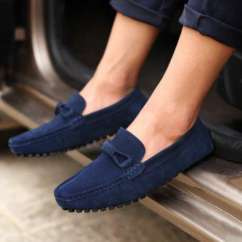 The Fall of New Shoes Slip-On Doug Foot Soft Bottom Shoes Doug Comfortable Leather Men'S Shoes - CERULEAN CERULEAN