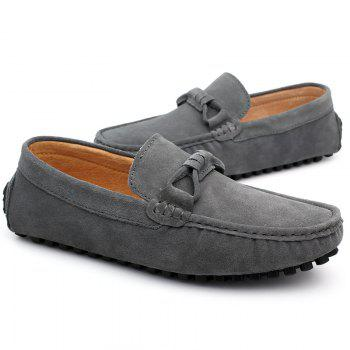 The Fall of New Shoes Slip-On Doug Foot Soft Bottom Shoes Doug Comfortable Leather Men'S Shoes - 45 45