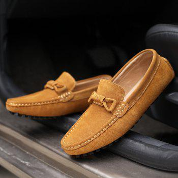 The Fall of New Shoes Slip-On Doug Foot Soft Bottom Shoes Doug Comfortable Leather Men'S Shoes - 46 46