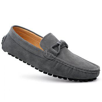 The Fall of New Shoes Slip-On Doug Foot Soft Bottom Shoes Doug Comfortable Leather Men'S Shoes - OYSTER OYSTER