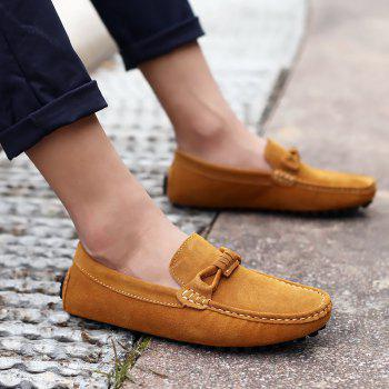 The Fall of New Shoes Slip-On Doug Foot Soft Bottom Shoes Doug Comfortable Leather Men'S Shoes - 42 42