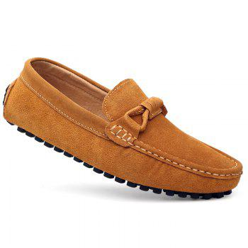 The Fall of New Shoes Slip-On Doug Foot Soft Bottom Shoes Doug Comfortable Leather Men'S Shoes - 40 40