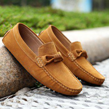 The Fall of New Shoes Slip-On Doug Foot Soft Bottom Shoes Doug Comfortable Leather Men'S Shoes - 38 38