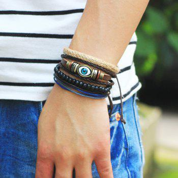 4 Pcs  Eye of The Demon Bead Hand Woven Diy Bracelet - multicolor COLOR