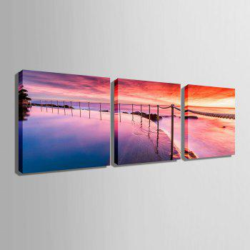 Yc Special Design Frameless Paintings Sunrise of 3 - 12 X 12 INCH (30CM X 30CM) 12 X 12 INCH (30CM X 30CM)