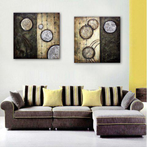 Yc Special Design Frameless Paintings Lost Planet of 2 - BLACK / WHITE 20 X 20 INCH (50CM X 50CM)