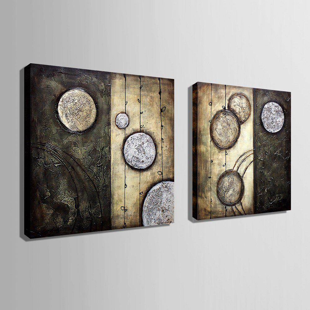 Yc Special Design Frameless Paintings Lost Planet of 2 - BLACK / WHITE 16 X 16 INCH (40CM X 40CM)