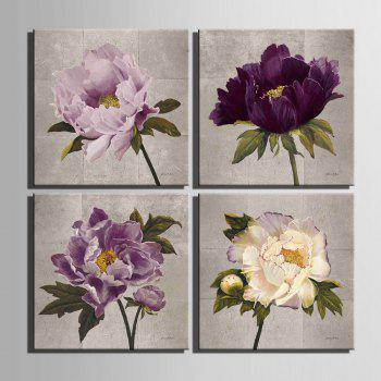 Yc Special Design Frameless Paintings Peony - WHITE / PURPLE WHITE / PURPLE