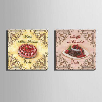 Yc Special Design Frameless Paintings Cake of 2 - PINK/YELLOW/RED PINK/YELLOW/RED