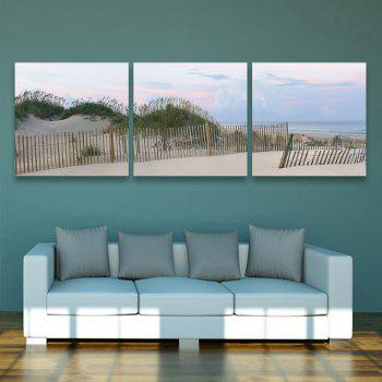 Yc Special Design Frameless Paintings Silver Coast of 3 - SILVER AND BLUE SILVER/BLUE