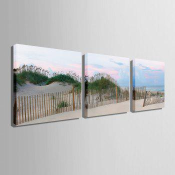 Yc Special Design Frameless Paintings Silver Coast of 3 - SILVER/BLUE SILVER/BLUE