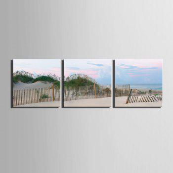 Yc Special Design Frameless Paintings Silver Coast of 3 - SILVER/BLUE 24 X 24 INCH (60CM X 60CM)