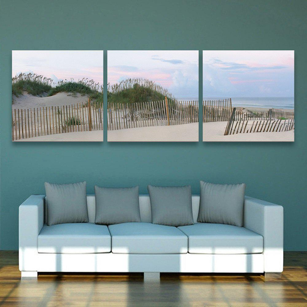 Yc Special Design Frameless Paintings Silver Coast of 3 - SILVER/BLUE 16 X 16 INCH (40CM X 40CM)