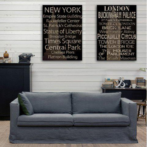 Yc Special Design Frameless Paintings Restore Ancient Ways In English of 2 - WHITE/BLACK 9 X 13 INCH (24CM X 34CM)