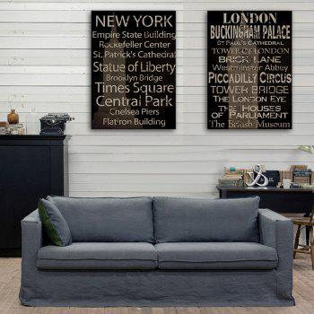 Yc Special Design Frameless Paintings Restore Ancient Ways In English of 2 - WHITE AND BLACK 16 X 11 INCH (40CM X 28CM)