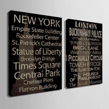 Yc Special Design Frameless Paintings Restore Ancient Ways In English of 2 - WHITE/BLACK 16 X 11 INCH (40CM X 28CM)