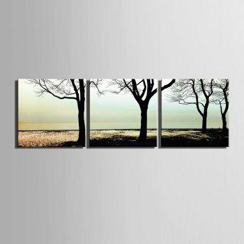 Yc Special Design Frameless Paintings shade of 3 - WHITE/BLACK 16 X 16 INCH (40CM X 40CM)