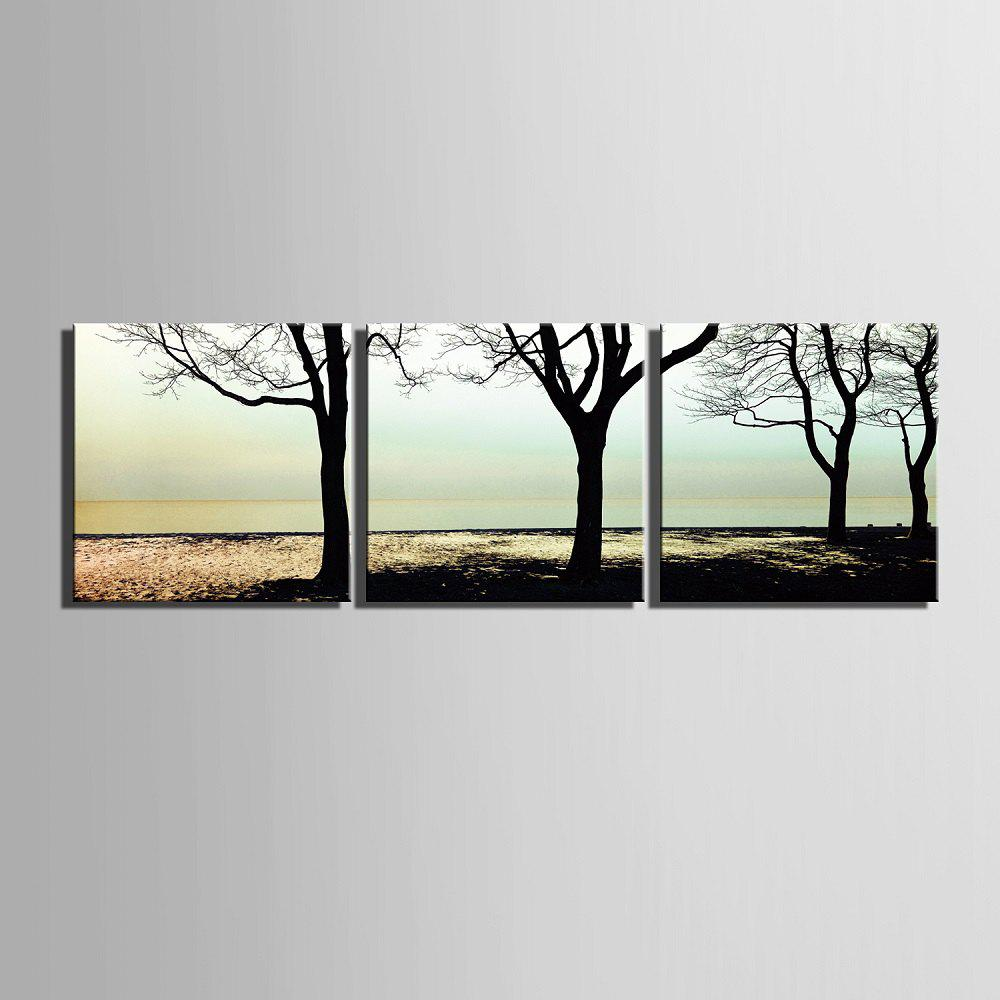 Yc Special Design Frameless Paintings shade of 3 - WHITE/BLACK 24 X 24 INCH (60CM X 60CM)