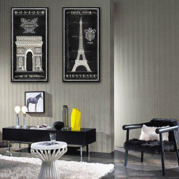 YC Special Design Frameless Paintings The French Amorous Feelings of 2 - WHITE AND BLACK 9 X 28 INCH (24CM X 70CM)