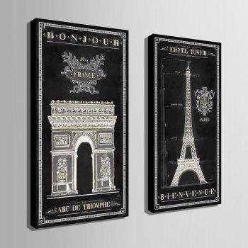 YC Special Design Frameless Paintings The French Amorous Feelings of 2 - WHITE/BLACK 9 X 28 INCH (24CM X 70CM)