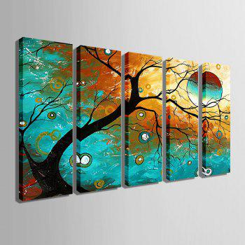 Yc Special Design Frameless Paintings Abstract Tree of 5 - 9 X 28 INCH (24CM X 70CM) 9 X 28 INCH (24CM X 70CM)