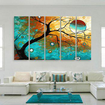 Yc Special Design Frameless Paintings Abstract Tree of 5 - 12 X 35 INCH (30CM X 90CM) 12 X 35 INCH (30CM X 90CM)